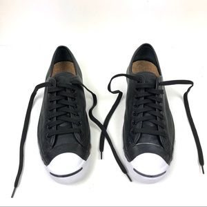 Jack Purcell Black Leather Low Top Converse